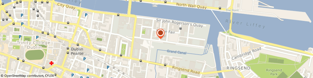 Route/map/directions to Shipping & Receiving Inc,  Dublin, 4 HANOVER QUAY