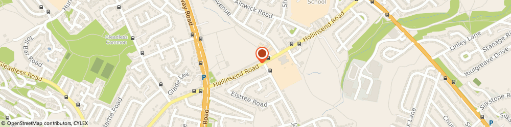 Route/map/directions to Airport & Executive Travel Specialists, S12 2EJ Sheffield, 204 Hollinsend Rd