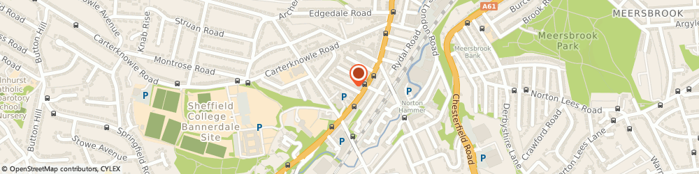 Route/map/directions to Tim Rose, S7 2DE Sheffield, 17 Plymouth Rd