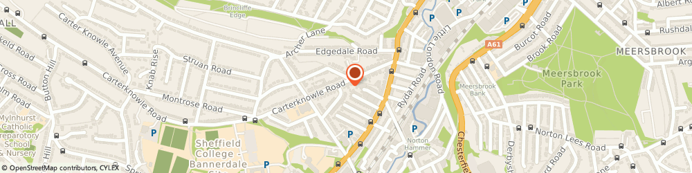 Route/map/directions to JS Parker Sheffield offices, S7 2DW Sheffield, 73 Carter Knowle Road