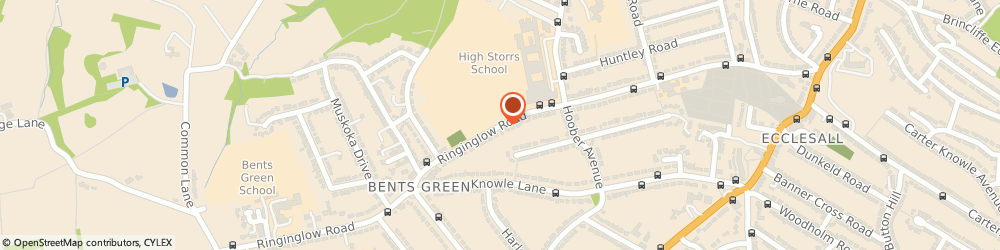 Route/map/directions to Ringinglow Fire Station, S11 7TB Sheffield, RINGINGLOW ROAD