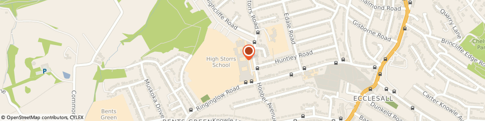Route/map/directions to Focuscamps Ltd, S11 7LJ Sheffield, 13 HIGH STORRS CLOSE, HIGH STORRS