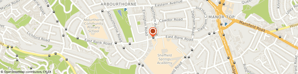 Route/map/directions to LloydsPharmacy, S2 2AG Sheffield, 555 East Bank Road