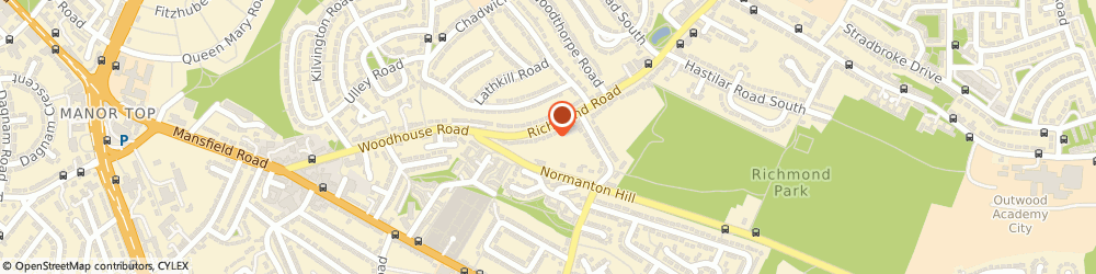 Route/map/directions to N.R Bates & Son, S13 8LX Sheffield, 535 Richmond Road