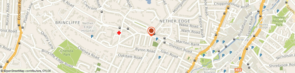 Route/map/directions to Nether Edge Home Improvements, S7 1PE Sheffield, 1-3 MACHON BANK RD