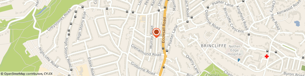 Route/map/directions to Greystones Counselling, S11 7GH Sheffield, 99 Murray Rd
