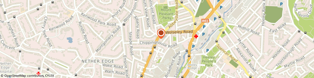 Route/map/directions to Direct Online Kitchens Limited, S7 2BE Sheffield, 673 ABBEYDALE ROAD