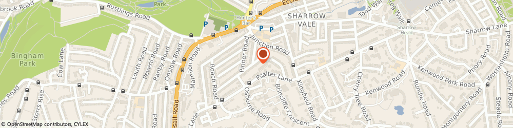 Route/map/directions to Fit 4 Physio, S11 8UL Sheffield, 57 PENRHYN ROAD