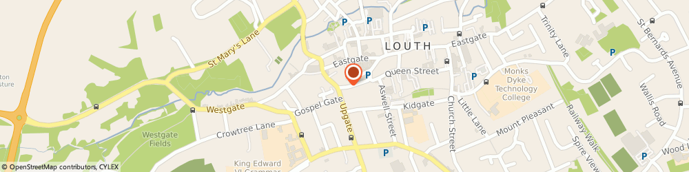 Route/map/directions to Potty About Pets, LN11 9JQ Louth, 8 MERCER ROW