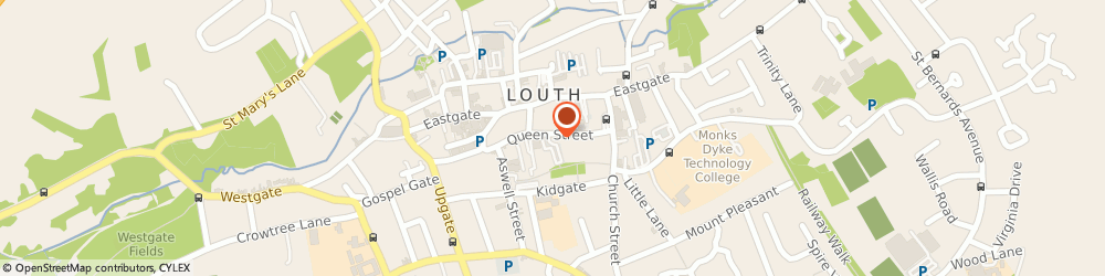 Route/map/directions to Turner Evans Stevens Ltd, LN11 9AU Louth, 1 Queen Street