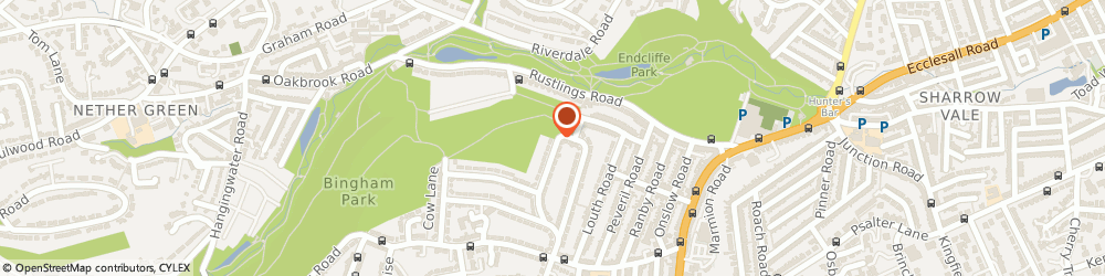 Route/map/directions to Sheila Kellett Physiotherapy & Pilates Clinic, S11 7BH Sheffield, 53 Bingham Park Cres