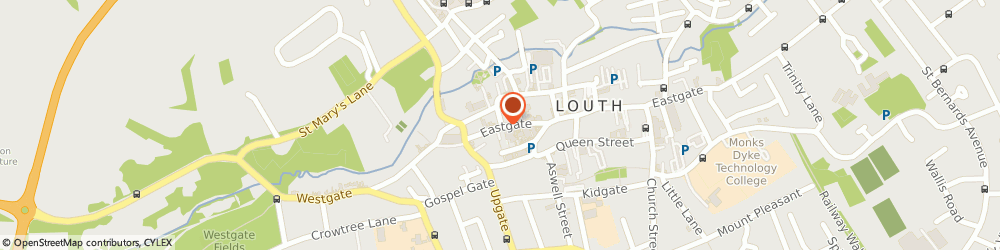Route/map/directions to Richard Jones Associates Ltd., LN11 9NG Louth, 32 Eastgate