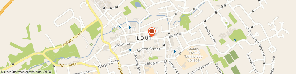 Route/map/directions to Neil Dowlman Architecture, LN11 0LY Louth, 62 Northgate