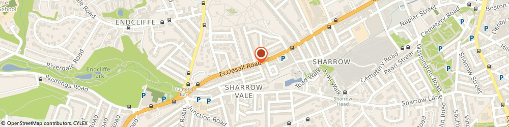 Route/map/directions to ECCLESALL NON-POLITICAL CLUB, S11 8PR Sheffield, 509 ECCLESALL ROAD