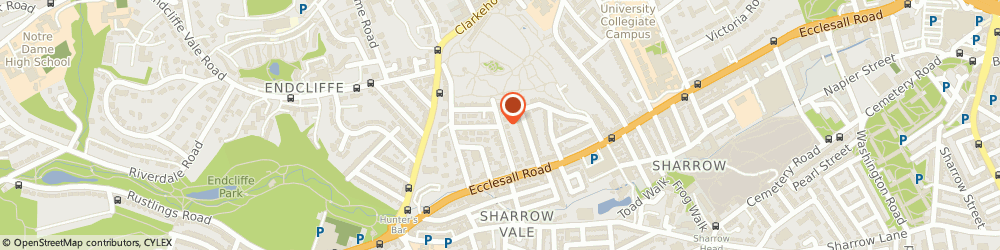 Route/map/directions to Polish Ex-Servicemens Club, S11 8RH Sheffield, 1 DOVER ROAD