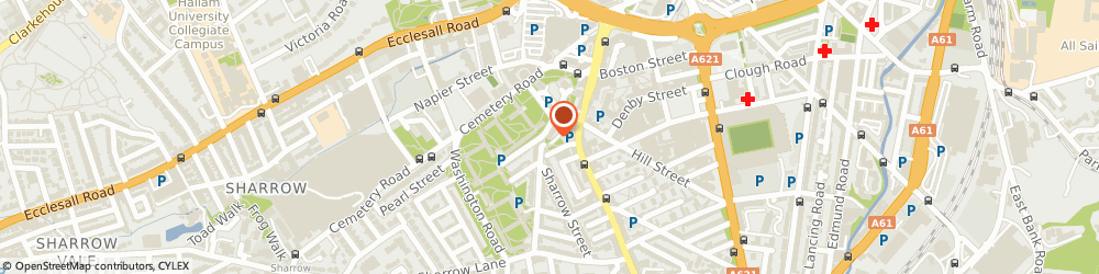 Route/map/directions to Youth Discovery Ventures, S11 8BU Sheffield, 57-59 Club Garden Road
