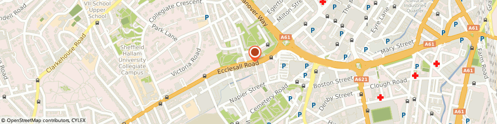 Route/map/directions to City Physio Ltd, S11 9PJ Sheffield, 119 Ecclesall Road