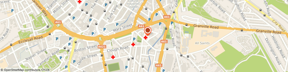Route/map/directions to Continence Advisory Service, S2 4EA Sheffield, 7 Edmund Road