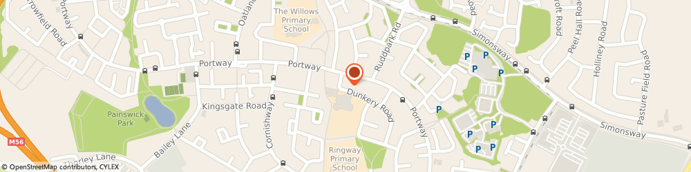 Route/map/directions to St Anthonys r C Primary School, M22 0NT Manchester, Dunkery Road