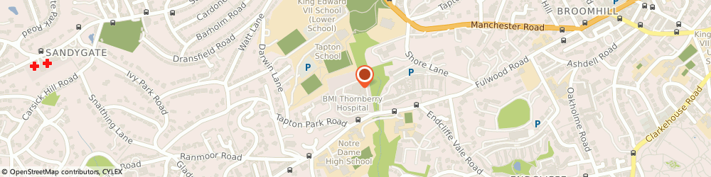 Route/map/directions to Vasacare, S10 3BR Sheffield, 312 Fulwood Rd