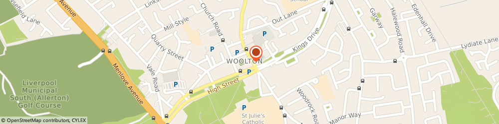 Route/map/directions to Julie Hatchell Opticians Ltd, L25 5JD Liverpool, 34 Woolton St