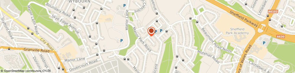 Route/map/directions to Woods Building Services, S2 1WL Sheffield, 9 Manor Park Rise