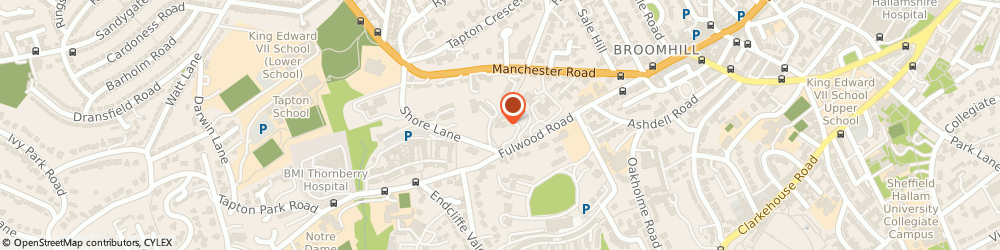 Route/map/directions to Matthew Wj Morris, S10 3BR Sheffield, 312 FULWOOD ROAD