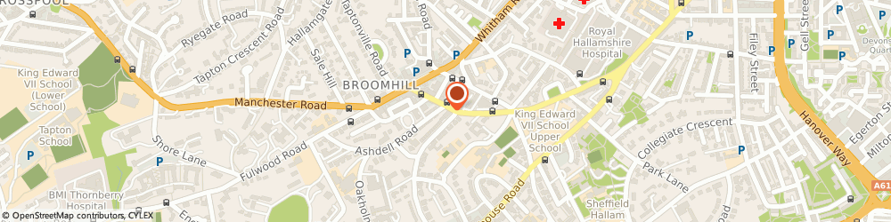 Route/map/directions to Hawsons Chartered Accountants, S10 2QD Sheffield, Pegasus House;463a Glossop Road