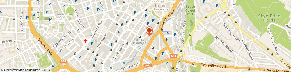 Route/map/directions to Yorkshire Artspace Society Ltd, S1 2BS Sheffield, 21 Brown St