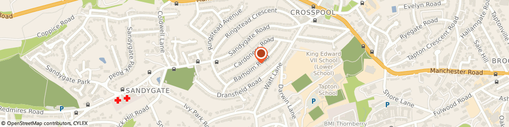 Route/map/directions to Grizle Systems Ltd, S10 5RS Sheffield, 12 Barholm Road