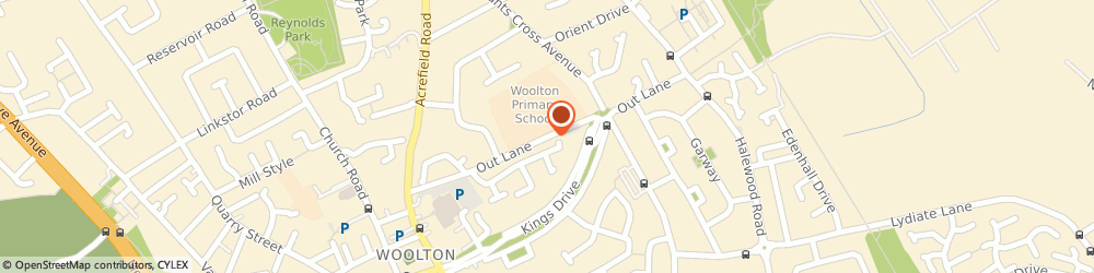 Route/map/directions to Woolton County Infant School, L25 5NN Liverpool, Out Lane