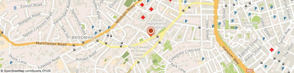 Route/map/directions to Mrs Georgina Hollinrake Sheffield, S10 2SA Sheffield, THE PHYSIOS, 1 BEECH HILL ROAD