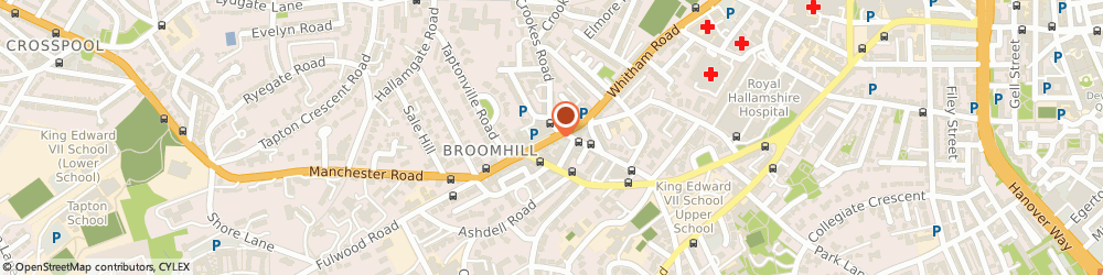 Route/map/directions to ENORTH LTD, S10 3QB Sheffield, 525 Fulwood Road