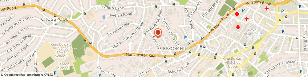 Route/map/directions to Urban Acupuncture, S10 5BX Sheffield, 1 Sale Hill, Broomhill