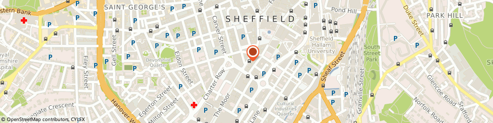 Route/map/directions to Skipton Building Society, S1 2HL Sheffield, 127 Pinstone Street