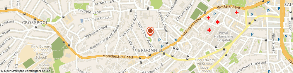 Route/map/directions to The Physios, S10 5BQ Sheffield, TAPTONVILLE ROAD