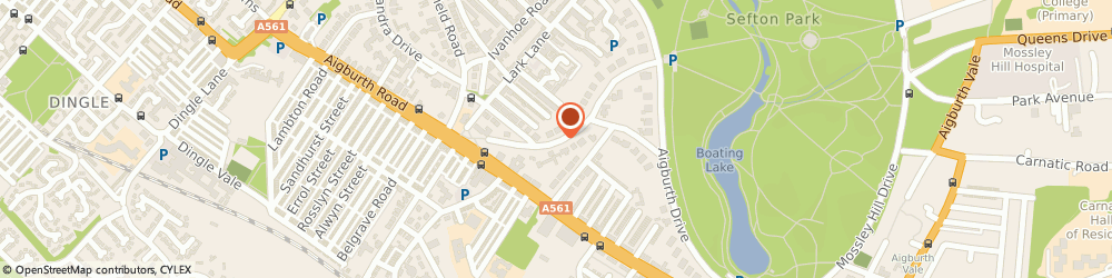 Route/map/directions to A La Carte, L17 8XW Liverpool, 11 Livingston Dr