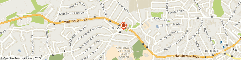 Route/map/directions to Charisma, S10 5NG Sheffield, 33 Sandygate Road