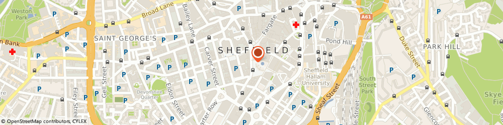Route/map/directions to Cancer Research UK, S1 2HN Sheffield, 28 Pinstone Street