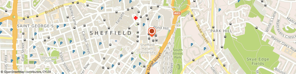 Route/map/directions to NatWest - SHEFFIELD ATM, S1 2BD Sheffield, Pond Square