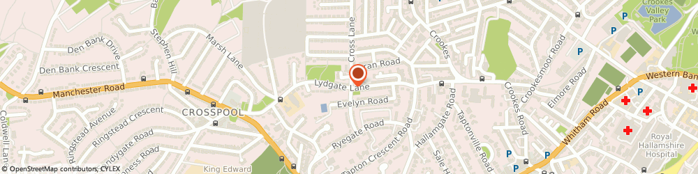Route/map/directions to Uk Medical, S10 5FH Sheffield, ALBREDA HOUSE, LYDGATE LANE