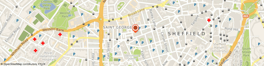 Route/map/directions to The Sheffield Royal Society For The Blind, S1 4DT Sheffield, 5 Mappin Street