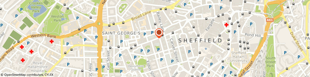 Route/map/directions to Miss Amanda Coley Sheffield, S1 4EW Sheffield, PHYSIOTHERAPIST, 141 WEST STREET