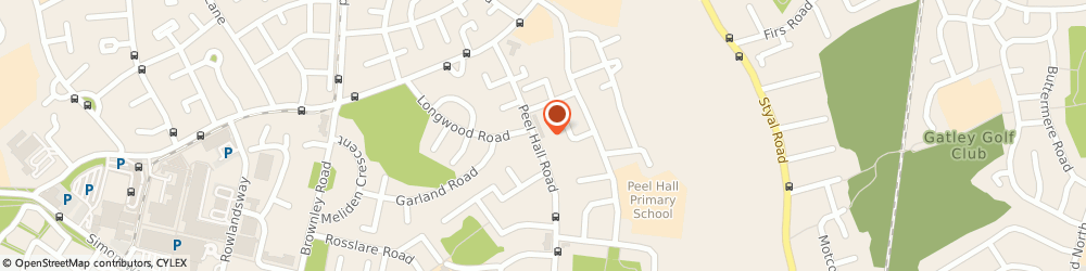 Route/map/directions to Post Office Limited, M22 5DW Manchester, 45 Peel Hall Road