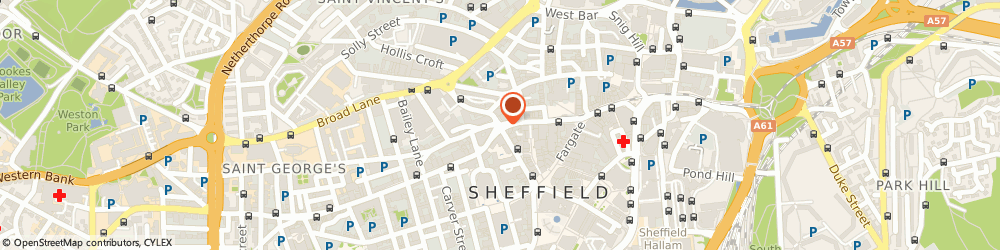 Route/map/directions to Sheffield Coach Hire, S1 2GZ Sheffield, 2 Leopold Street