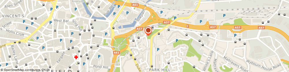 Route/map/directions to Planet Garages, S2 5TG Sheffield, 90 Broad Street