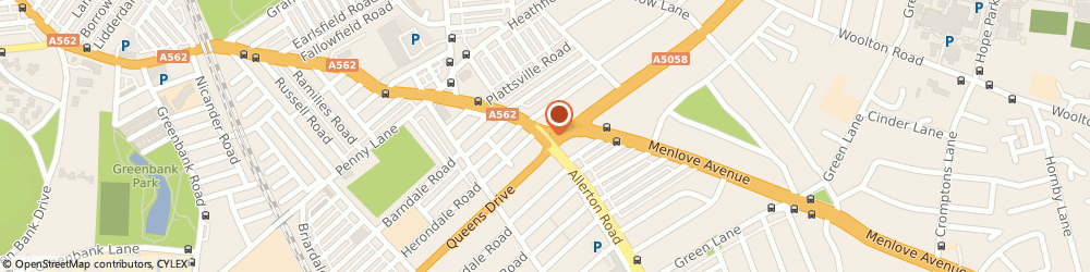 Route/map/directions to R & B Millican Opticians, L18 1LW Liverpool, 82-84 Allerton Road