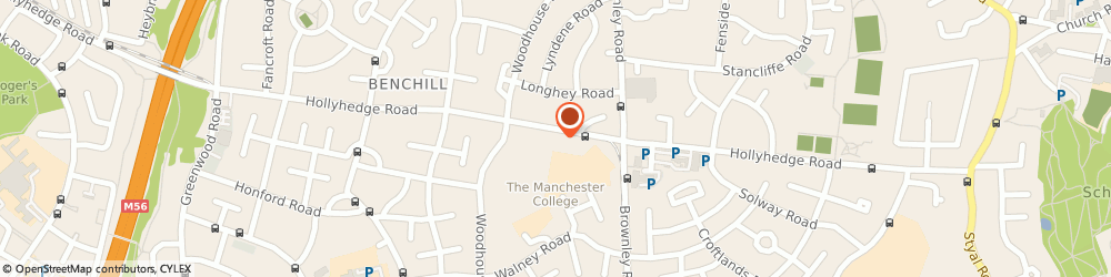 Route/map/directions to DPD Parcel Shop Location - Rowlands Pharmacy, M22 9UE Manchester, 158 Hollyhedge Road