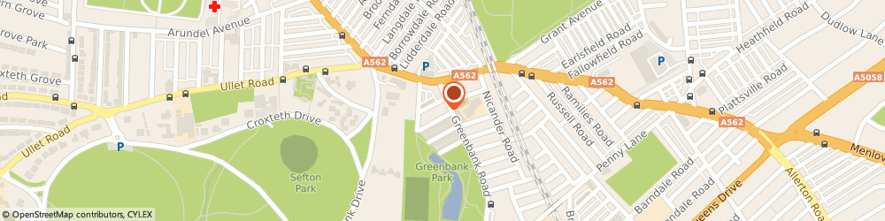 Route/map/directions to Splash Art & Craft, L18 1HN Liverpool, 18A GREENBANK ROAD
