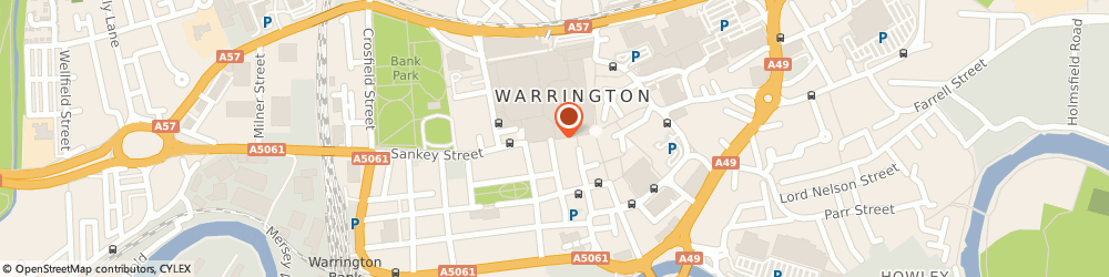 Route/map/directions to Chris Rudd Solicitors, WA1 1SL Warrington, 69a Sankey Street